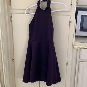Charlotte Rousse purple dress size medium backless
